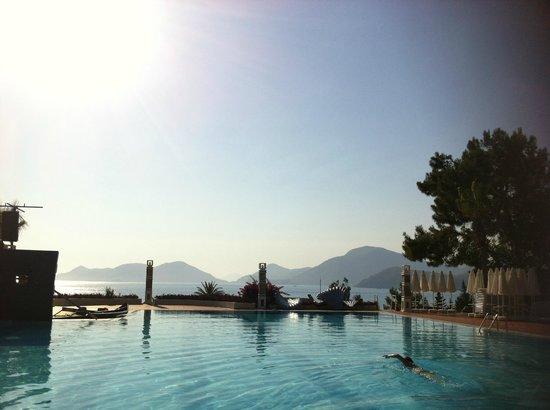 La piscine et sa magnifique vue.