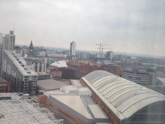 Hilton Manchester Deansgate: View from room at 24th floor