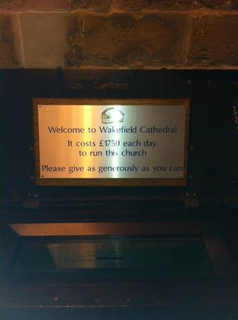 Wakefield Cathedral: Cost of Running-Donation
