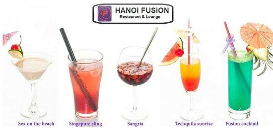 Hanoi Fusion: Colourful cocktails