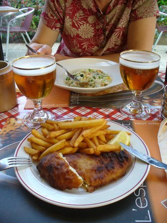 Ibis Niort Marais Poitevin: Not so tasty fish and chips and passable risotto at L'esprit Bistrot