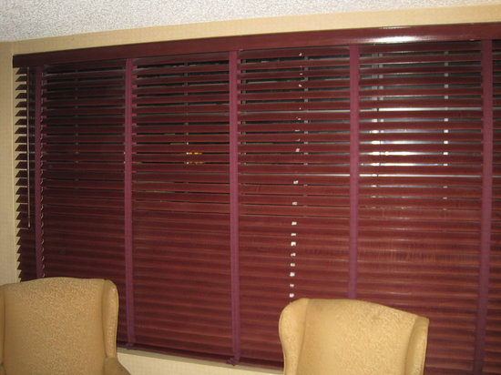 The Anabella: Blinds would only close halfway and there was a significant amount of tape residue from when som