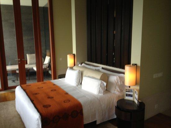 Capella Singapore: La chambre à coucher