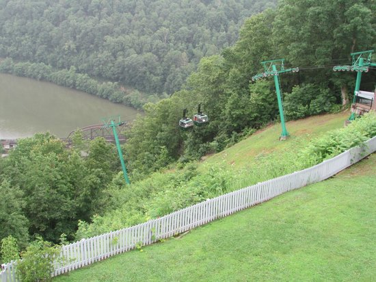 Hawks Nest State Park Lodge : Cable Cars to the river