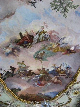 Schäzlerpalais: Ceiling in Rococo ballroom