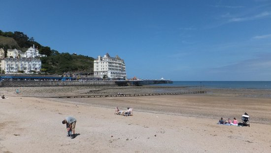 Llandudno Beach 3 mins Walk from The Clovelly Hotel