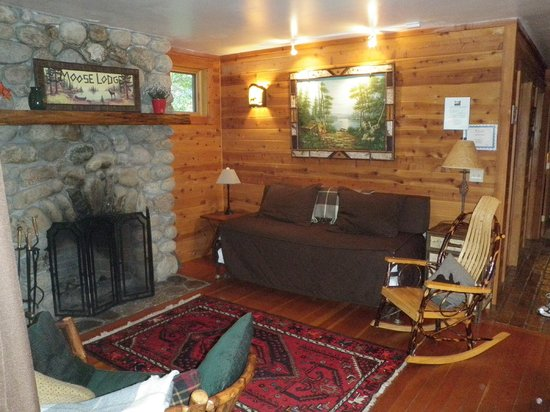 Prospect Point Cottages - Blue Mountain Lake: Living room