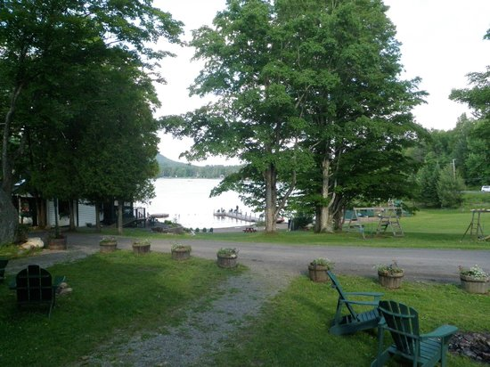 Prospect Point Cottages - Blue Mountain Lake: View from porch