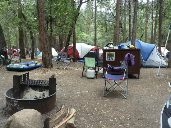 Upper Pines Campground: Campsite 133
