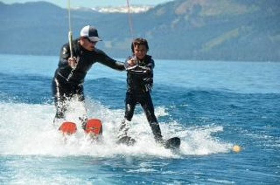 Birkholm's Water Ski Wakeboard School: Kids get a helping hand for as long as they need it.