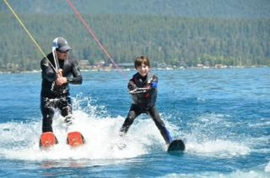 Birkholm's Water Ski Wakeboard School: Erik makes this look easy.  It's not.
