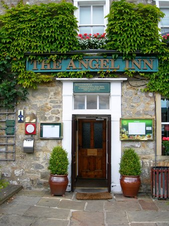 The Angel Inn: welcoming front door