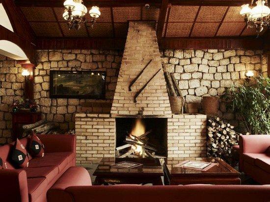Victoria Sapa Resort and Spa : VSPTa Fin Bar Fireplace