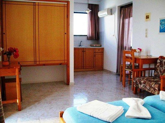 Anthia Apartments : studio for 2