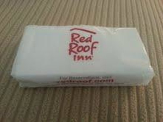 Red Roof Inn Wilkes Barre Arena: This is what they provide in place of a box of tissues . . . small travel size packet