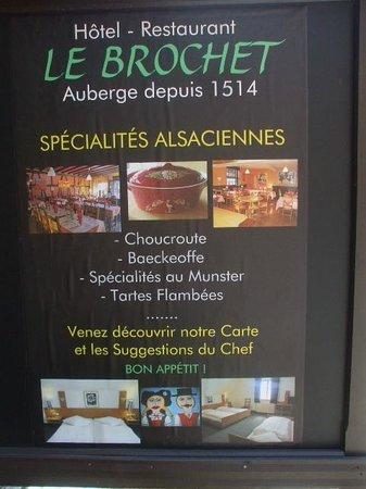 Restaurant Le Brochet: お店の看板