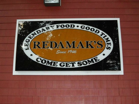 Redamak's Tavern: Sign on wall