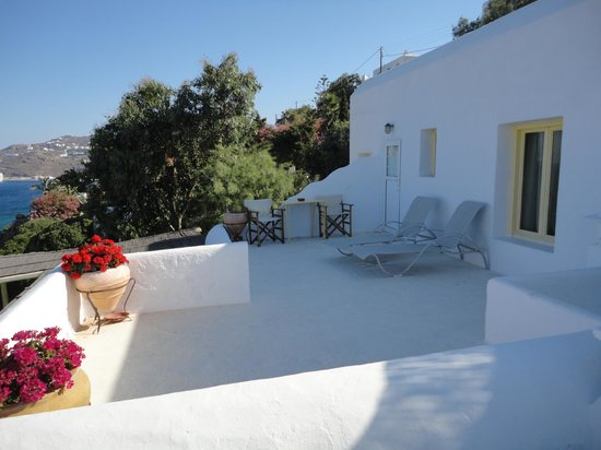 Omiros Hotel: Private Patio