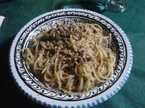 Agriturismo Calamosche: spaghetti alle sarde