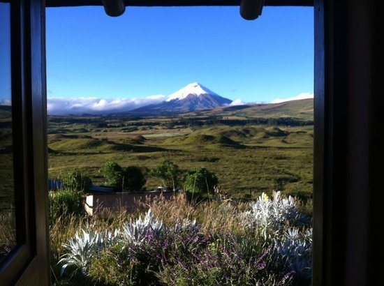The Secret Garden Cotopaxi: view from the dorm room