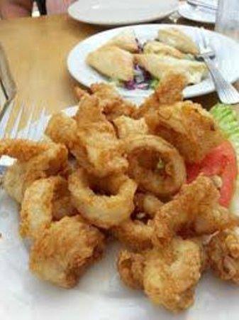 Athena Greek Restaurant: Calamari and Tiropita