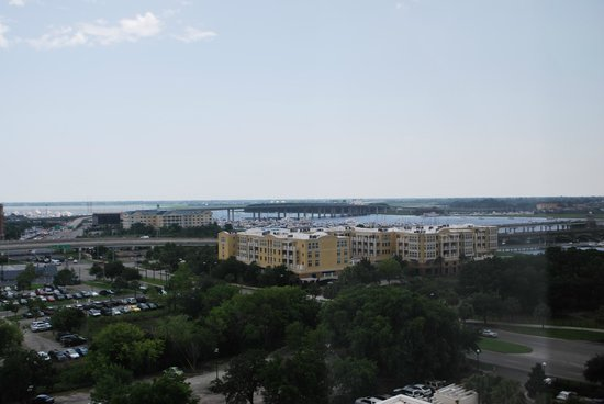 Charleston Marriott: Looking East - Bridge to Folly Beach in background