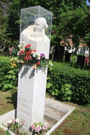 Our Lady of Smolensk Novodevichy Convent: sculpture of Stalin's wife Alliluyeva Stalina