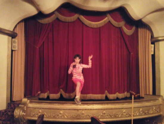 Casa Bonita: My 8-yr-old took to the stage that wasn't occupied.