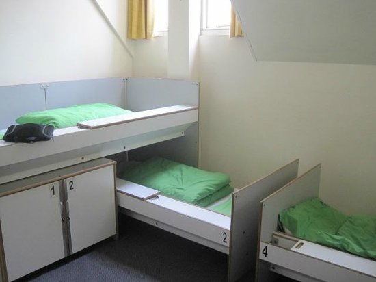 YHA London St Pauls: More comfy than they look. Bed rail slides open for storage