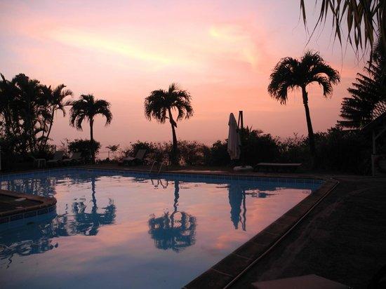 Le Jardin Tropical : coucher de soleil