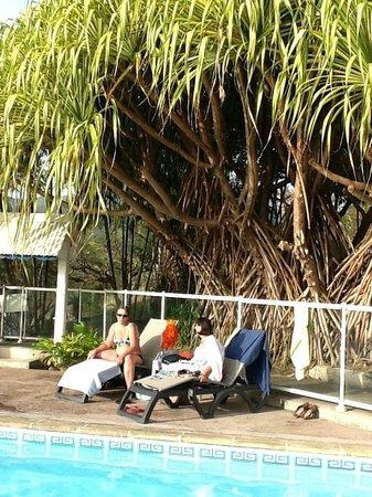 Le Jardin Tropical : au bord de la piscine
