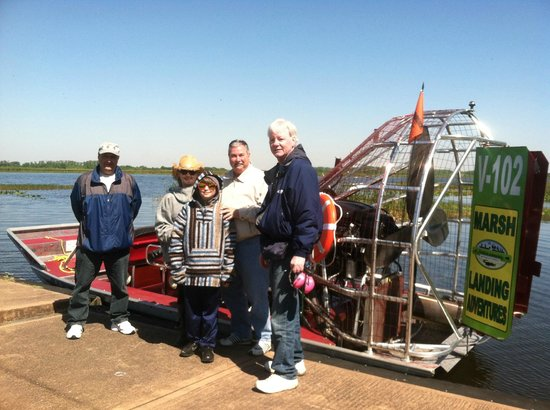Marsh Landing Adventures: Guests with Airboat