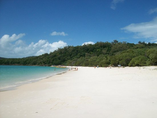 Whitehaven Beach: A view to the southeastern end, where the hut is