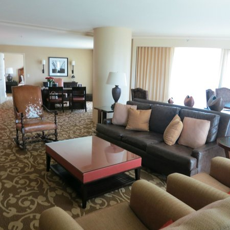Omni Fort Worth Hotel: Living Area - Corner Suite - #840 6-28-13