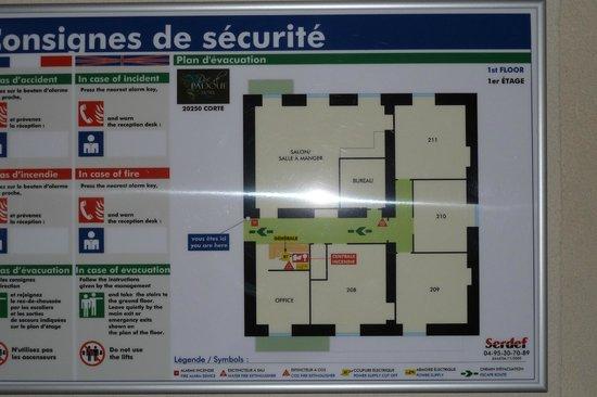 Hotel Duc de Padoue : Flurplan (1.Etage)