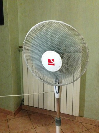Hotel Ferrarese : Dusty, stinky, noisy fan