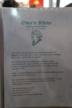 Oma's Kuche: Oma
