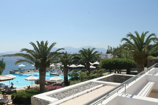 St. Nicolas Bay Resort Hotel & Villas : view from room of pool and Med