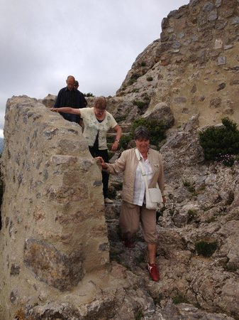 "Chateau de Queribus: ...until I saw all the ""senior"" tourists clambering down!"