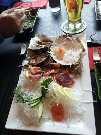 Restaurant TAO: rauwe vis, schaal en schelpdieren
