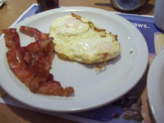 Denny's: bacon and eggs!