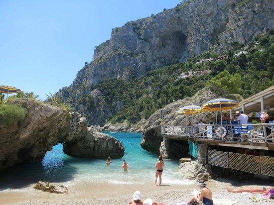 Villa Brunella: playa en Capri, Marina Piccola