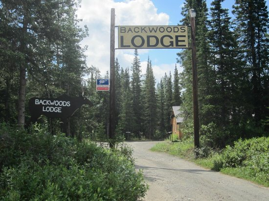 Entrance to Backwoods Lodge