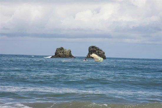 Playa Manuel Antonio: Parasailing - caída