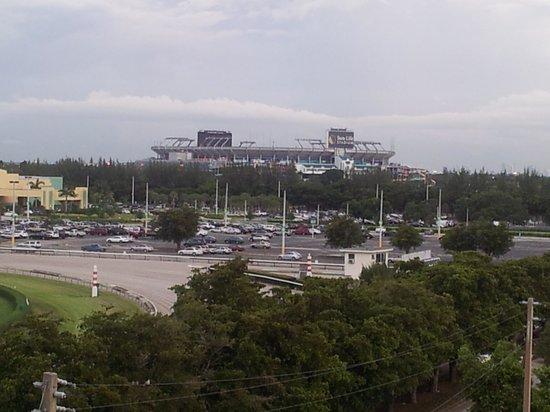 Stadium Hotel: SunLife Stadium view from my balcony