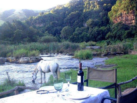 Protea Simunye Zulu Lodge: Dining Area With Mountain View