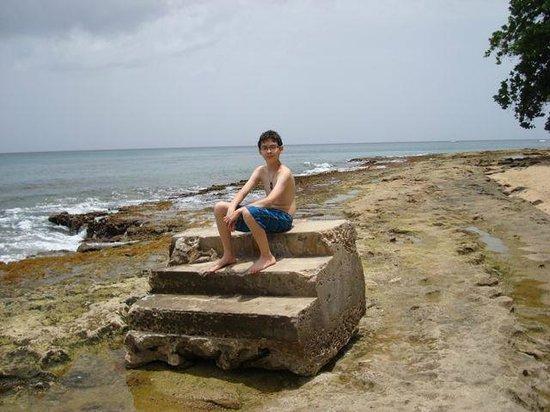 Tres Palmas Marine Reserve: steps on steps beach