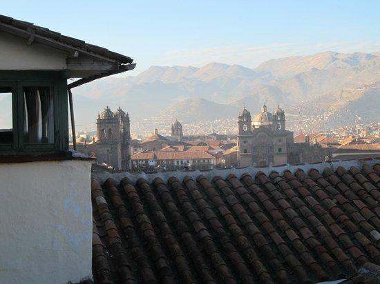 Hostal Corihuasi: Vista panoramica desde los corredores
