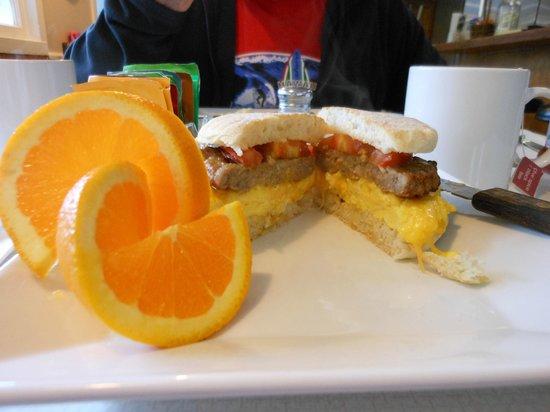 Jamie's Dockside Diner at Taylor's Landing: Jamie's Sunrise Sandwich