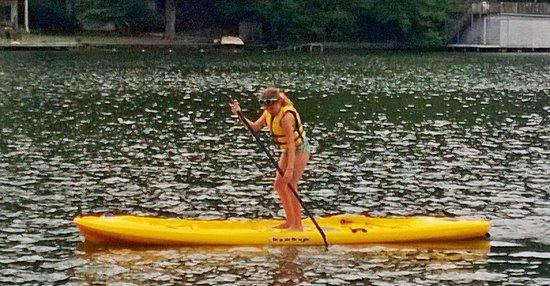 Rumbling Bald Resort on Lake Lure: Paddle Boards Take Some Balance